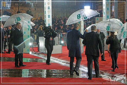 The Establishing Shot: EE BAFTAs RED CARPET GEORGE CLOONEY WALKS OFF AFTER POUNDING FISTS by Craig Grobler