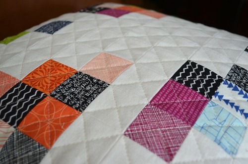 Pillow - front quilting detail