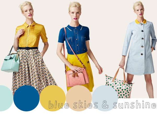 gorgeous colours from Orla Kiely's spring / summer 2013 lookbook