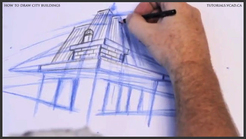 learn how to draw city buildings 015