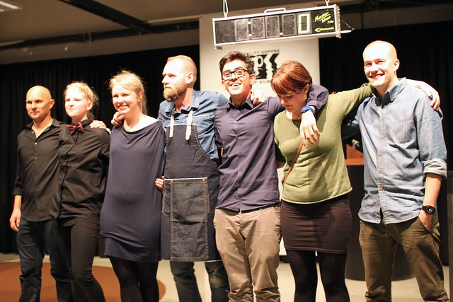 The seven competitors on the 2013 Danish Barista Championship