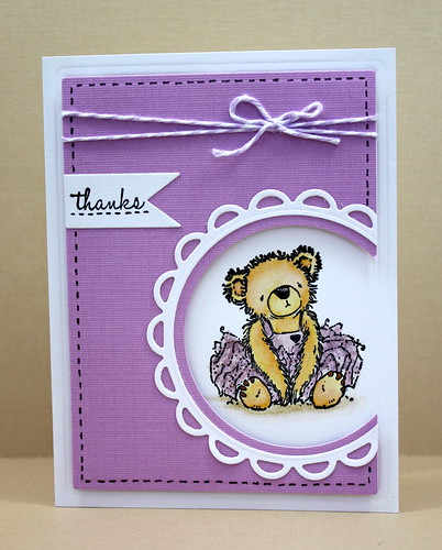 Tutu Bear Note Set Lavender