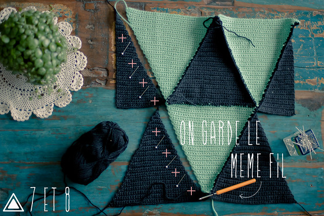 tuto couverture triangles au crochet
