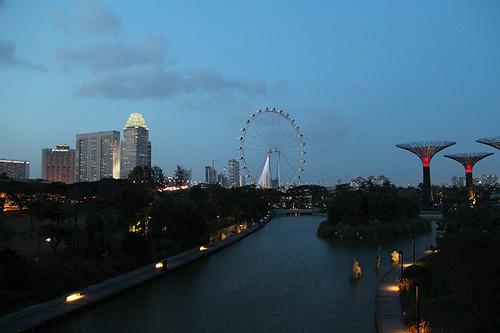 scene from the bridge over ECP
