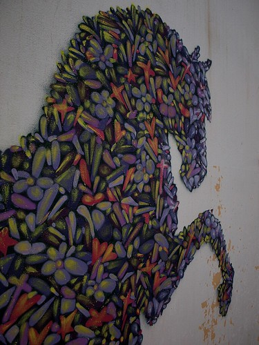 Beautiful horse mural found in abandoned factory by Teacher Dude's BBQ