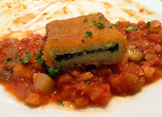 Polentaschnitte - Querschnitt / Polenta slice - cross section
