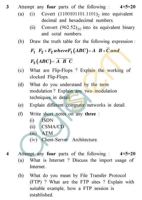 UPTU B.Tech Question Papers -PHAR-124/PH-124 - Computer Fundamentals & Programming
