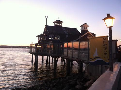 Pier Cafe Evening Shot
