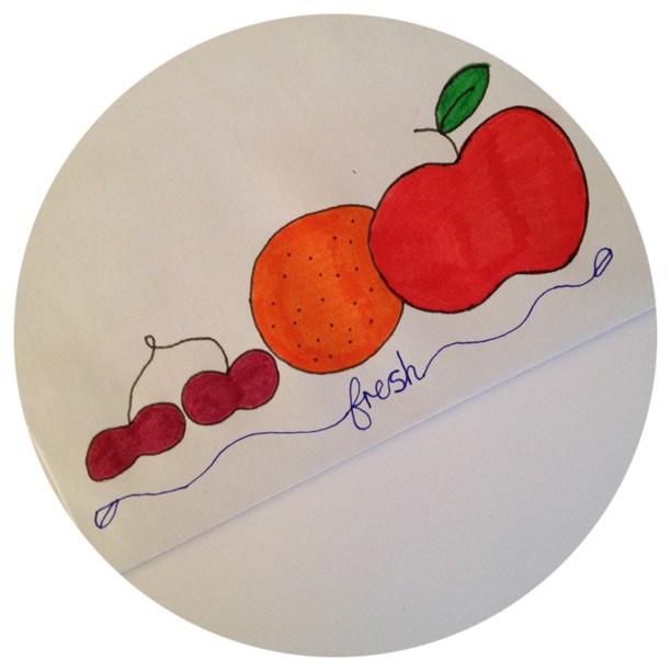 An envelope to go with my #fresh postcard #envelope #fruit #handrawn #doodleadaymarch