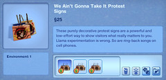 We Ain't Gonna Take It Protest Signs