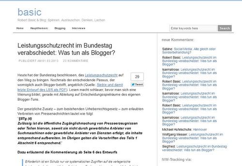 Startseite Robertbasic.de