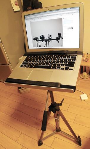 カメラ三脚PCデスク