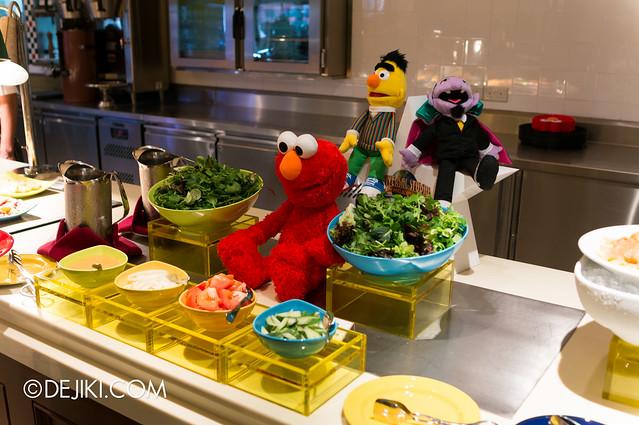 Sesame Street Character Breakfast at Universal Studios Singapore - Salad bar