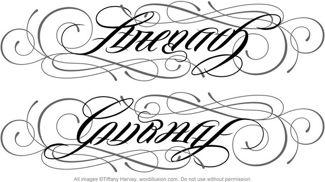 strength courage ambigram v 3 flickr photo sharing. Black Bedroom Furniture Sets. Home Design Ideas