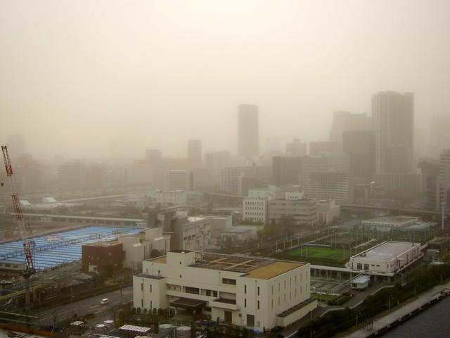 China Sandstorm in Tokyo