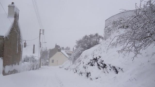 Querqueville sous la neige