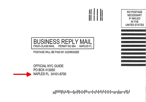 """Official NYC Guide"" Mailing Address"