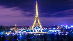 Paris by night - La tour Eiffel vue du Trocadéro