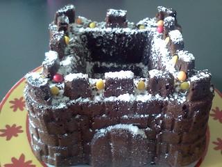 gâteau chocolat château fort