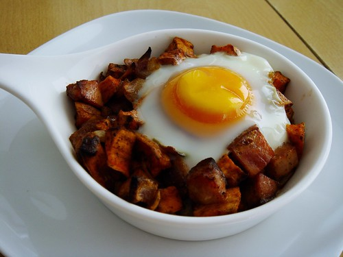 Sweet Potato Smoked Sausage Hash