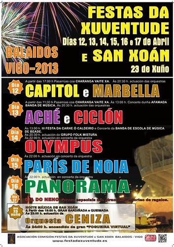Vigo 2013 - Festa da Xuventude de Balaídos - cartel