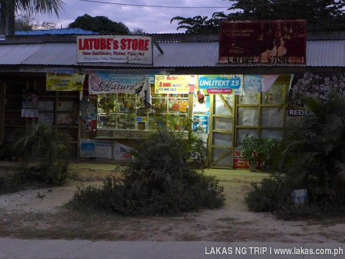 Store Signs and Location Latube's Store at New Barbacan, Roxas, Palawan. Notice the old rusty signboard on the right.