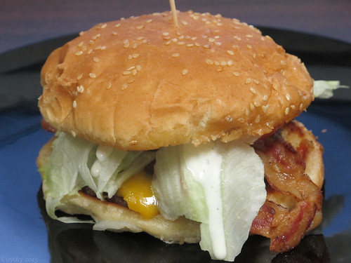 Cheddar ranch BLT burger by Coyoty