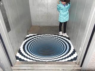 3D floor sticker – lift