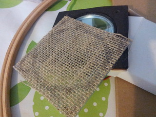 Hessian speaker grill cut out