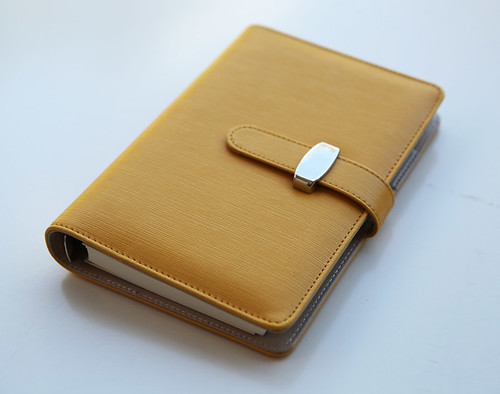 Leather Loose leaf Notebook Agenda Personal Diary Schedule Book Hardback Large