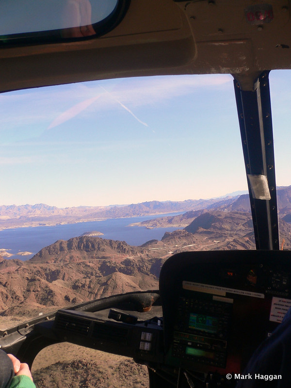 View from our helicopter near The Grand Canyon: Lake Mead