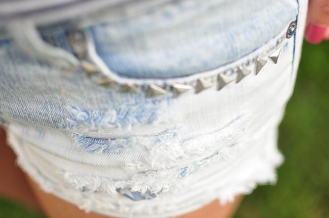 striped top, dip dye, short shorts, sandals, spring 2013