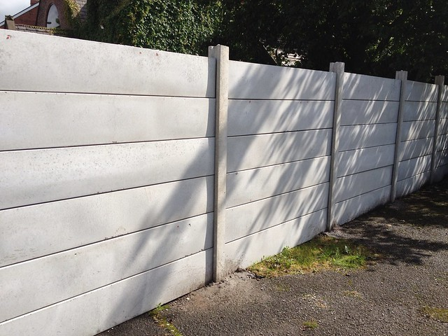 Precast Fence Panels : Industrial plain precast panel fencing flickr photo