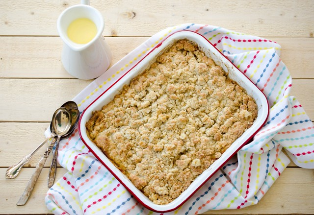 Mango Ginger Crumble