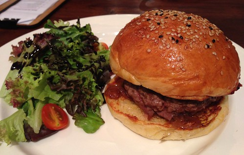 Port & Blue Cheese Burger at Jewel Cafe & Bar