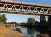 Railway bridge across the Severn at Worcester