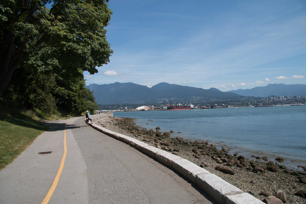 Paved paths in Stanley Park