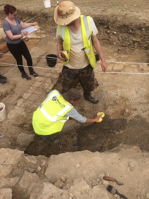 Students on a dig in the UK