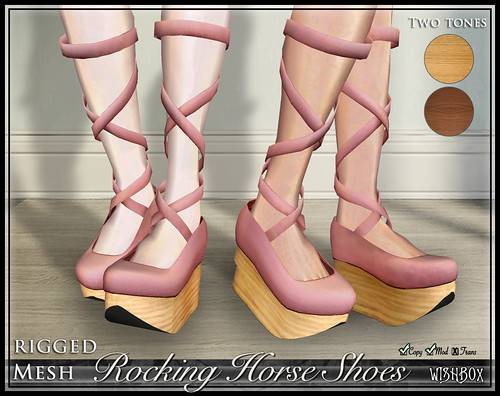 Rocking Horse Shoes from Wishbox in Second Life (Pink)