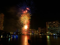 New Year's Eve Fireworks 2012 @ Taksin Bridge, Bangkok