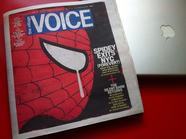 Dan Slott's interview with The Village Voice makes the cover!