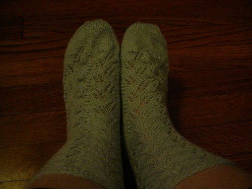 finished Pegasus feather socks