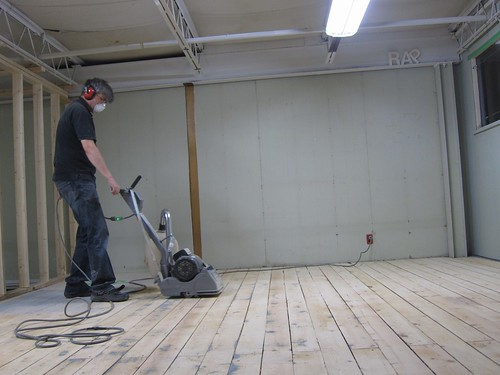 Chris on the floor sander