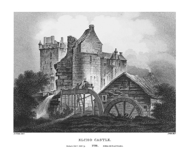 etching: Elcho Castle
