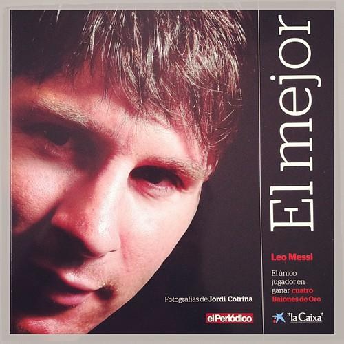 Grans fotos de Jordi Cotrina en aquest llibre al 4 pilotes d'or Leo Messi #fcbarcelona #fotoperiodisme #barcelona