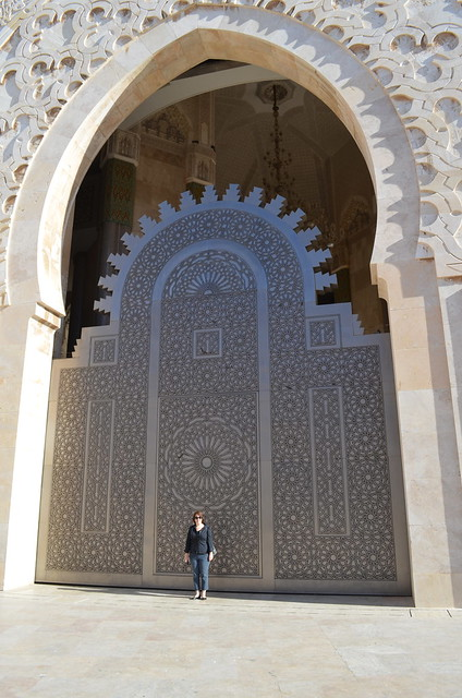 Angie at Grand Mosquée Hassan II