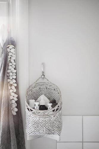 white basket