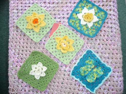Squares for SIBOL. Daffodil Challenge and Butterfly Challenge. Thank you!