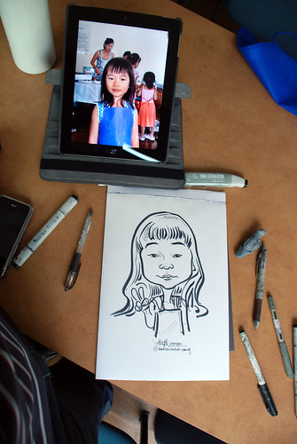 caricature sketching for a birthday party 07072012 - 1