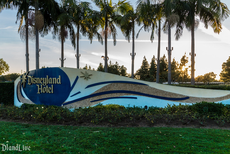 Disneyland Hotel Entrance Sign